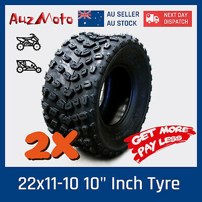Pair of 22x11-10 Wheels ATV 150CC-600CC ATV Go Kart Quad Bike Buggy UTV Mower
