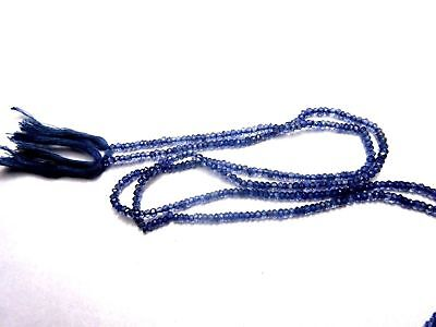 Natural Iolite Gemstone 4mm Rondelle Micro Faceted Beads 1 Strand 13''Inch S12