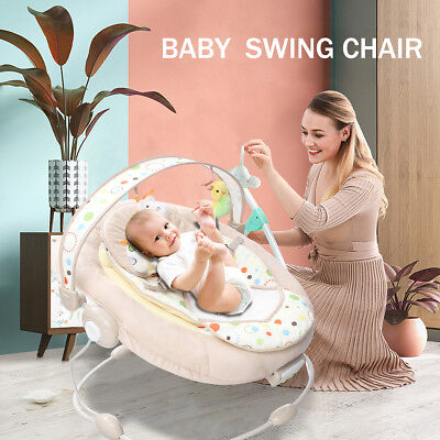 Baby Cradling Rocking Swing Bouncer Musical Vibration Chair Seat Rocker Play Toy