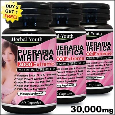 Pueraria Mirifica Bigger Buttocks Ass Enlargement Firmer Bottom Bum Growth Pills