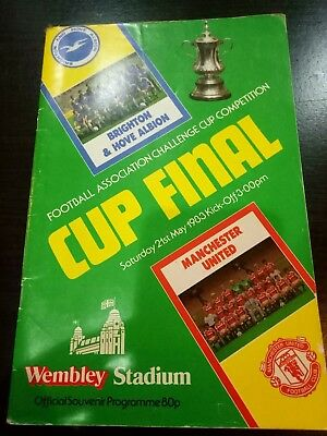 Brighton v Manchester United FA Cup Final Official Souvenir Programme 1983