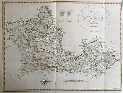 1805 Antique Map & Chapter; Berkshire, Camden's Britannia, Gough, Cary / Noble