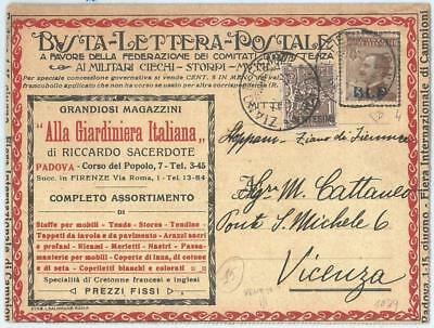 69600 - ITALY - POSTAL HISTORY - BLP Advertising COVER # 4 - TAPESTRIES textile