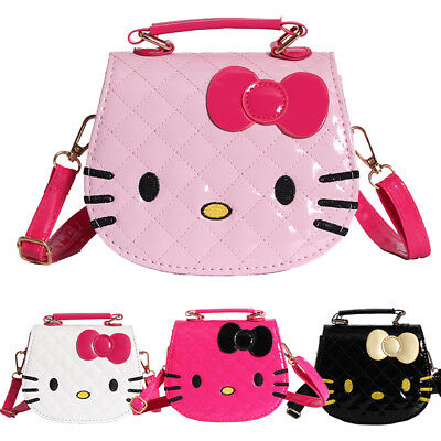 35cbc3a4f Hello Kitty Cute Handbag Messenger Bag For Girls Women Kids Shoulder Bag  Bowknot