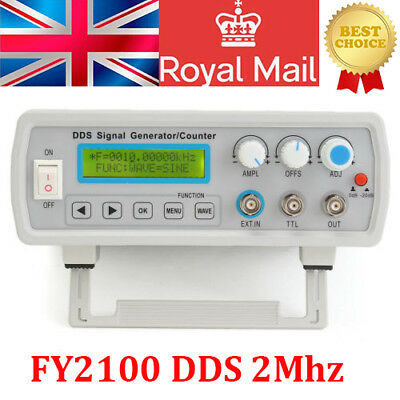 2MHz DDS Function Signal Generator Sine/Square Wave+ Sweep + Frequency Meter UK