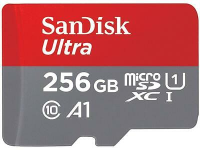 SanDisk 256GB Ultra microSDXC A1 UHS-I/U1 Class 10 Memory Card with Adapter, Spe