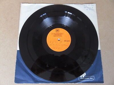 "Jet Bronx & The Forbidden 10"" Very Rare 1977 Cbs Studios Acetate Lloyd Grossman"