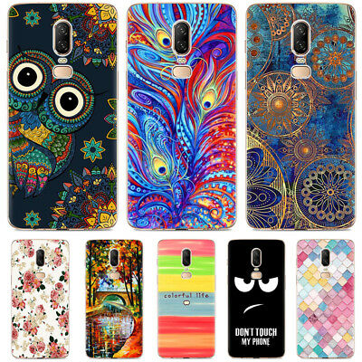 For OnePlus 6 5 5T 3 3T Shockproof Patterned Soft TPU Silicone Rubber Case Cover