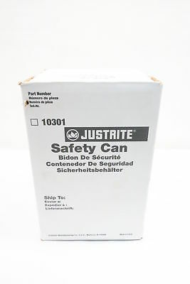 New Justrite 10301 Red Safety Can 1 Gallon Capacity