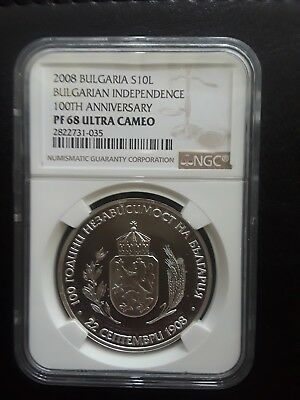 2008 Bulgaria 10L Ngc 100Th Anniversay Bulgaria Independence