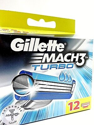 12 Gillette Mach 3 Turbo Rasierklingen in OVP, 100% Original