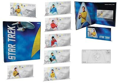 Star Trek Original Series - Complete Collection 7x $1 Silver Coin Note Niue 2018