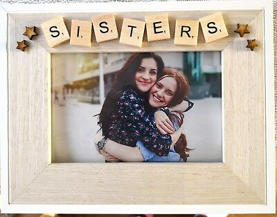 Birthday Gift,Scrabble HOLIDAY-Home Decor WOODEN PHOTO FRAME