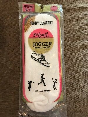 Vintage Sofpuff Jogger Sport Socks Terry 9-11 Brown Gold New Old Stock NIP
