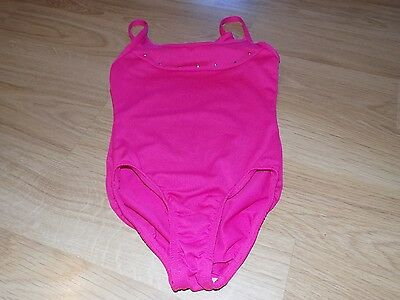 Girls Size Small 6-6X Solid Pink Freestyle Danskin Dance Gymnastics Leotard EUC