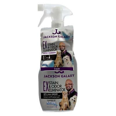 Jackson Galaxy Fizzion EXTRA STRENGTH Pet Stain Odor Remover 2 Tab & 23oz Bottle