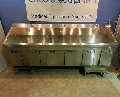 Mac Medical SS96 Triple Scrub Sink with Knee activation soap and water etc..NEW