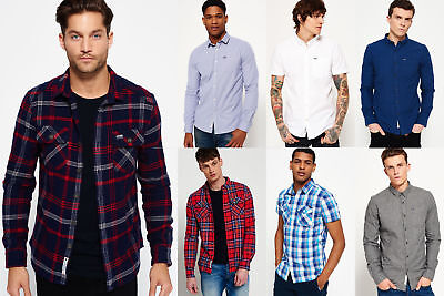 New Mens Superdry Shirts Selection - Various Styles & Colours 2905 1
