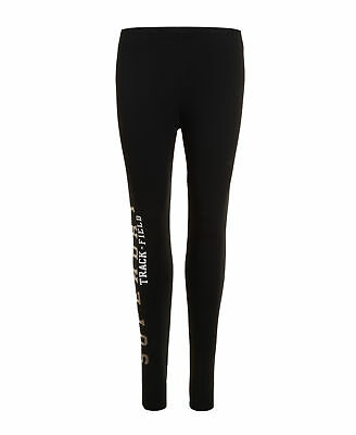 New Womens Superdry Factory Second Trackster Leggings Black
