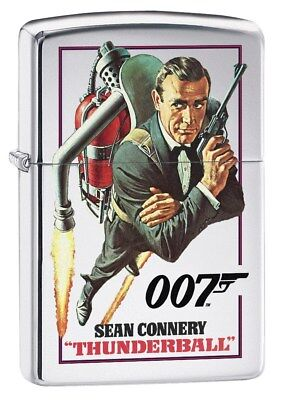 Zippo Lighter: James Bond 007 Thunderball - High Polish Chrome 79341