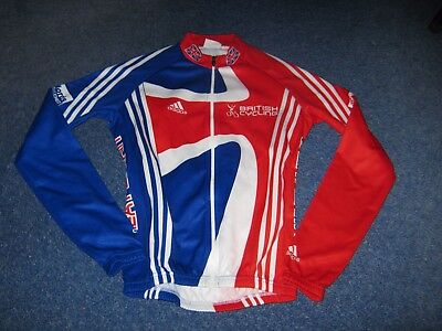 Team Gb Great Britain British Cycling Adidas L/s Italian Cycling Jersey [S]