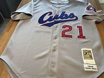 Sammy Sosa Authentic 1996 Mitchell & Ness Chicago Cubs Jersey Size 48 (XL)