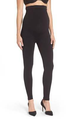 New! $78 SPANX Mama Look at Me Now Seamless Maternity Leggings, Black; SMALL