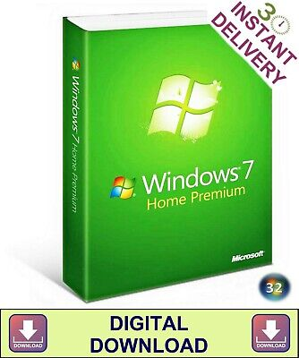 Windows 7 Home Premium 32 Bit Product Key & Disc Re-Install Repair Recovery Boot