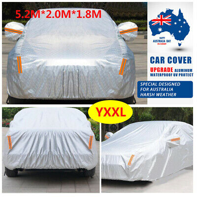 Aluminum 3 Layers thicker Car Cover rain resistant UV dust Protection waterproof