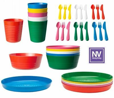 IKEA KALAS CHILDREN\'S For Kids Plastic Plate Cups Bowls and Cutlery ...