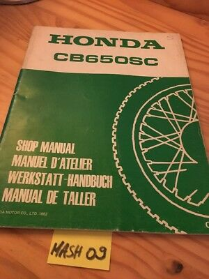 Honda CB650SC RC08 CB650 SC CB 650 supplement manuel atelier workshop service