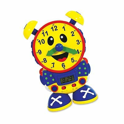 THE LEARNING JOURNEY Telly The Teaching Time Clock, Primary Colors Yellow