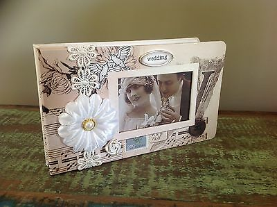 VINTAGE LOOK Wedding Marriage PHOTO ALBUM. BRAND NEW Boxed Gift