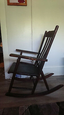 Antique 1800's Wood Rocking Chair Original Good Condition