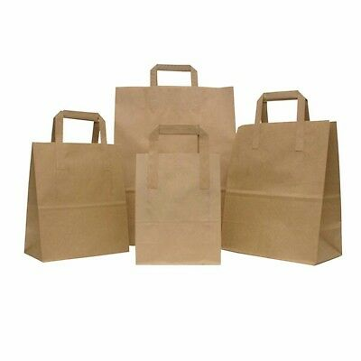 SPECIAL OFFER-STRONGHOLD©  Brown Paper Food Take Away Carriers ( 50 bags )