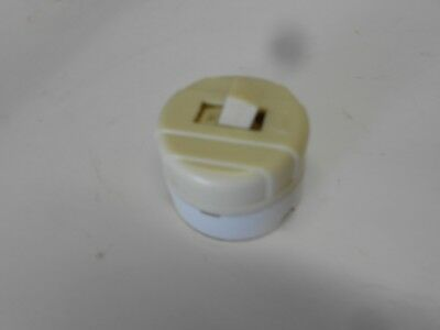 Vintage White Plastic / Porcelain ON/OFF Switch