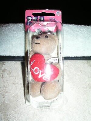 Pez Dispenser Valentine Fuzzy Bear Holding Heart