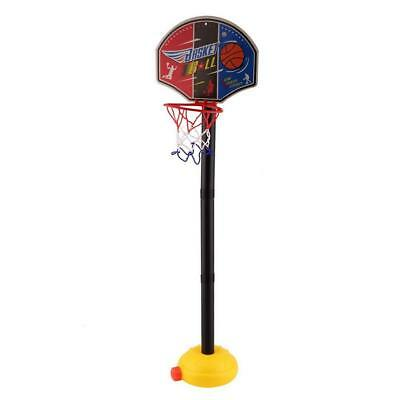 Portable Kids Basketball Stand Set Basket Hoop Backboard Net with Ball Pump BR