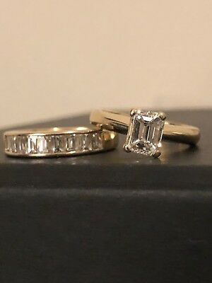 Engagement ring and wedding ring. Quality Diamonds