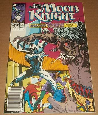 Marc Spector: Moon Knight #6 VF/VF+ (1989) Brother Voodoo Appearance