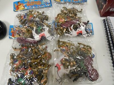 4 bags of plastic Toy Soldiers titles Caesar Warrior -