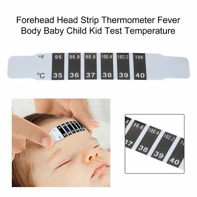 Hot Baby Kids Forehead Strip Head Thermometer Fever Body Temperature Test K6