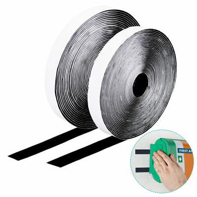 Hook and Loop Self Adhesive Tape Roll Velcro Tape Double Sided DIY for Home