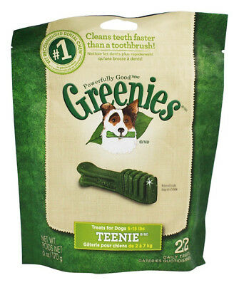 GREENIES - Dental Chews for Dogs Teenie - 22 Chews (6 oz./170 g)