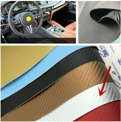 1 Sheet 120*50CM Carbon Fiber Leather Car Door Sill / Threshold Cover Tailorable