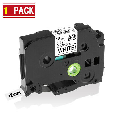 Compatible Brother TZe-231 Laminated 12mm Black on White Label Tape PT-1010 1PK