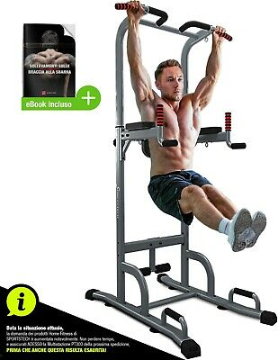 Sportstech 7in1 Power Tower PT300 Dip Station Gymtower Multifunzionale Per Casa