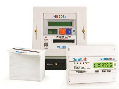 Electric Prepayment Card Meter Package Three Phase 80amp