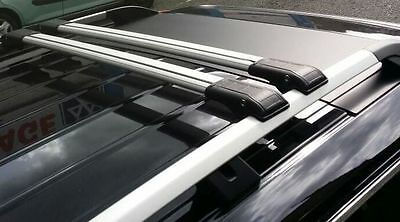 Ford Tourneo Courier Lockable Grey Cross Bars Roof Bars Rack 75 Kg 2014 Onward