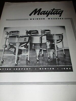 3 Maytag Wringer Washer Machines Brochures, late 1950's to 1960's